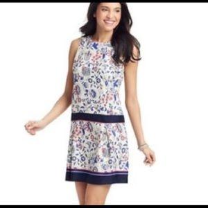LOFT Ann Taylor Flower Drop Waist Dress Sz 6